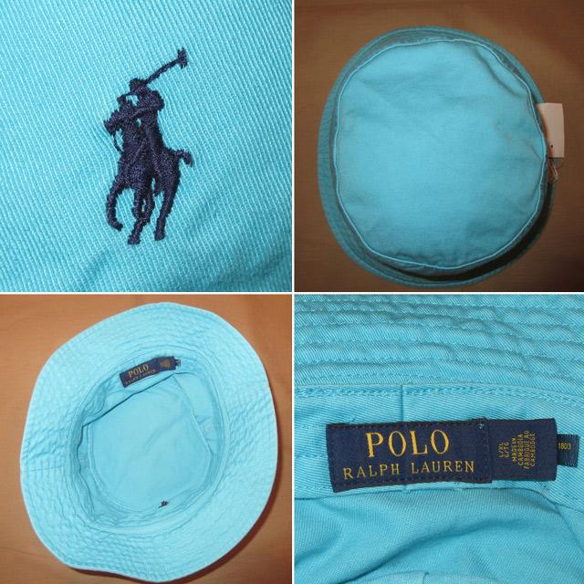 画像3: 新品 Ralph Lauren ラルフローレン バケットハット バケツハット 帽子 SAX 00's / 170615