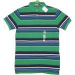 画像1: 新品 Ralph Lauren ラルフローレン 鹿の子 ボーダー ポロシャツ GRN 00's/130627 (1)