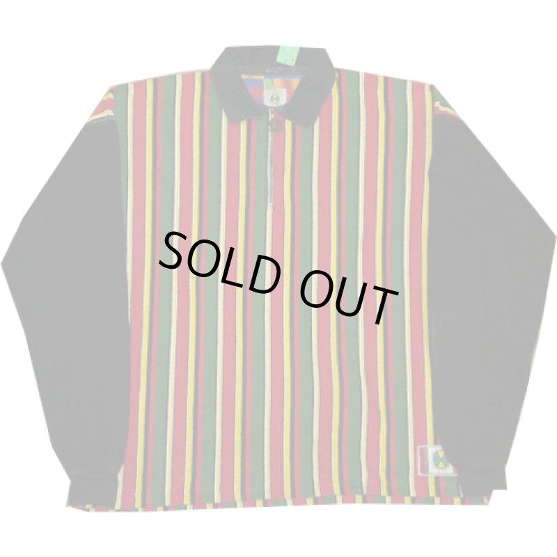 画像1: 古着 CROSS COLOURS クロスカラーズ ラスタカラー H/Z ラガーシャツ USA製 90's /140327 (1)