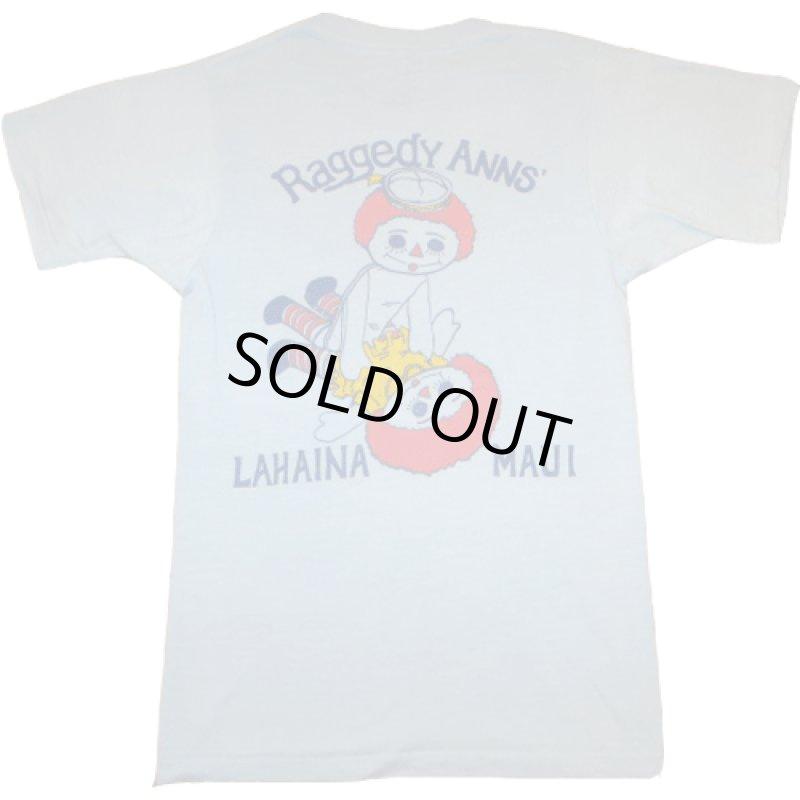 画像1: 古着 Raggedy ANNS' FXXK パロディ エロプリント Tシャツ BLUE 80's / 150616 (1)
