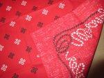 画像3: デッドストック 新品 Wrangler ラングラー バンダナ RED 80's / 150720 (3)