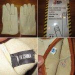 画像4: デッドストック Justin ジャスティン レザー グローヴ 手袋 パッケージ付き 80's / 150117 (4)
