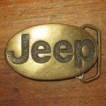 画像1: アンティーク Jeep ジープ 真鍮 ブラス バックル モーターサイクル 70's / 160514 (1)