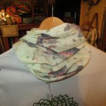 画像3: 新品  SEIRUS セイラス ヘアバンド スカーフ WHT 00's / 160814 (3)