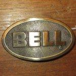 画像1: 古着 BELL HELMET ベル ブラス ベルトバックル モーターサイクル BRW 90's / 170105 (1)