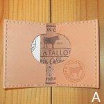 画像1: 新品 HIDE&TALLOW ハンドクラフト レザークラフト カードケース A USA 00's / 170709 (1)