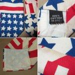 画像3: 古着 70〜80's UNKNOWN AMERICAN FLAG アメリカ国旗 星条旗 コットン ネクタイ WHT / 170726 (3)