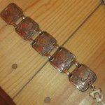 画像3: アンティーク インディアンヘッド カッパー 銅 ブレスレット インディアンジュエリー バングル / 170803 (3)