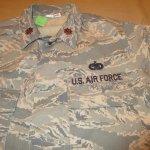 画像3: 古着 00's USAF アメリカ空軍 デジカモ ユーティリティージャケット ミリタリ- GRN /170910 (3)