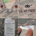 画像4: 古着 00's USAF アメリカ空軍 デジカモ ユーティリティージャケット ミリタリ- GRN /170910 (4)