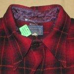 画像5: 古着 30's PENDLETON ペンドルトン オンブレチェック ウールシャツ RED/BLK /171219 (5)