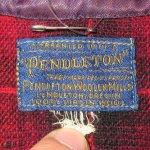 画像4: 古着 30's PENDLETON ペンドルトン オンブレチェック ウールシャツ RED/BLK /171219 (4)