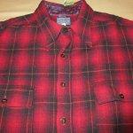 画像3: 古着 30's PENDLETON ペンドルトン オンブレチェック ウールシャツ RED/BLK /171219 (3)