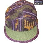画像1: 古着 90's patagonia パタゴニア DUCK BILL ダックビル フリースキャップ 帽子 総柄  / 171221 (1)