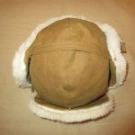 画像2: 新品 00's FILSON フィルソン TRAPPER HAT オイルドコットン ボアキャップ ハット 耳あて付き 帽子 BEI / 171221 (2)