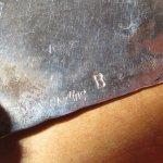 画像3: アンティーク ズニ族 インディアンジュエリー ベア チップインレイ シルバー ベルトバックル  / 180113 (3)