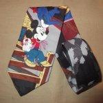 画像1: 古着 90's MICKEY MOUSE ミッキーマウス DISNEY ネクタイ カウボーイ / 180210 (1)