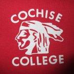 画像3: 古着 80's COCHISE COLLEGE カレッジプリント 半袖スウェット RED /180508 (3)