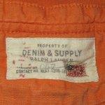 画像6: 古着 DENIM&SUPPLY デニム&サプライ RL カットオフ スウェットショーツ ORG / 180531 (6)