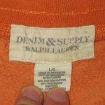 画像9: 古着 DENIM&SUPPLY デニム&サプライ RL カットオフ スウェットショーツ ORG / 180531 (9)