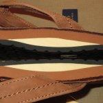 画像6: 新品 00's Ralph Lauren ラルフローレン レザー ヌバック ビーチサンダル BRW  / 180716 (6)