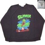 画像1: 古着 80's GHOSTBUSTERS ゴーストバスターズ SLIMER スライマー クルースウェット BLK /180903 (1)