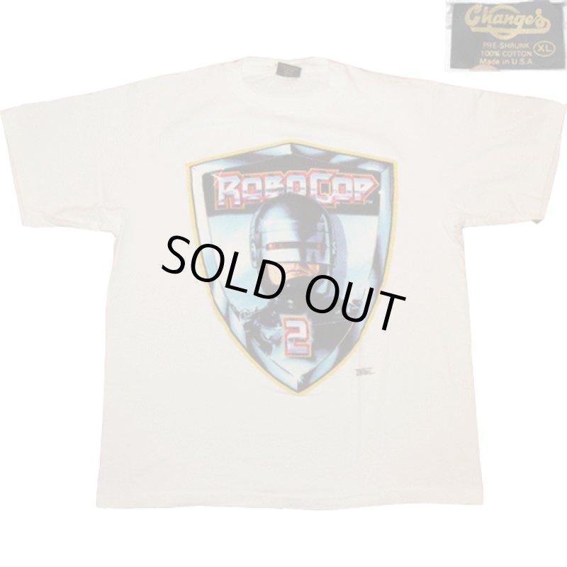 画像1: デッドストック 古着 90's ROBO COP 2 ロボコップ2 映画 Tシャツ WHT  / 181129 (1)