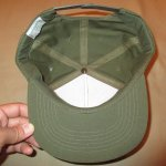 画像9: デッドストック 80's PLATOON プラトーン 戦争映画 紙タグ キャップ CAP 帽子 OLV / 181206 (9)