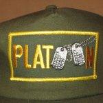 画像2: デッドストック 80's PLATOON プラトーン 戦争映画 紙タグ キャップ CAP 帽子 OLV / 181206 (2)