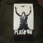 画像4: デッドストック 80's PLATOON プラトーン 戦争映画 紙タグ キャップ CAP 帽子 OLV / 181206 (4)