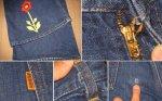 画像2: 【過去に販売した商品です】古着 Levi's 646 デニム 濃紺 刺繍 TALON42 70年代 ヴィンテージ (2)