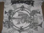 画像4: FISHBONE フィッシュボーン PUSHEAD 総柄 1991年 Tシャツ (4)