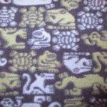 画像4: 古着 90's patagonia パタゴニア Rマーク 動物 総柄 スナップT フリース ジャケット アウトドア NVY / 190108 (4)