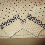 画像9: 古着 00's Ralph Lauren ラルフローレン ノルディック柄 アンゴラ カシミア混 ショールカラー ニット セーター NAT×NVY / 190115 (9)