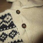 画像6: 古着 00's Ralph Lauren ラルフローレン ノルディック柄 アンゴラ カシミア混 ショールカラー ニット セーター NAT×NVY / 190115 (6)