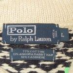 画像3: 古着 00's Ralph Lauren ラルフローレン ノルディック柄 アンゴラ カシミア混 ショールカラー ニット セーター NAT×NVY / 190115 (3)