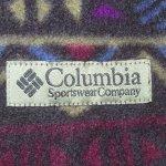画像5: 古着 00's columbia コロンビア フリース ナイロン リバーシブル ベスト 柄×KH / 190122 (5)