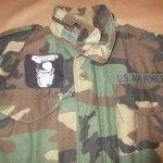 画像4: 古着 90's US ARMY AIR FORCE M-65 ミリタリー フィールドジャケット カモ 時計仕掛けのオレンジ /190127 (4)