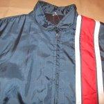 画像3: 古着 80's UNKNOWN ナイロン レーシングジャケット NVY×RED / 190203 (3)