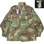 画像1: 古着 90's US ARMY AIR FORCE M-65 ミリタリー フィールドジャケット カモ 時計仕掛けのオレンジ /190127 (1)