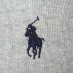 画像6: 古着 00's Ralph Lauren ラルフローレン 裏サーマルフード フルジップ スウェットパーカ GRY /190320 (6)