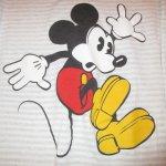 画像3: 古着 90's MICKEY MOUSE ミッキーマウス ボーダー クルーネック スウェット GRY /190320 (3)