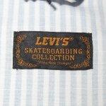 画像7: 新品 00's LEVI'S SKATEBOARDING リーバイス スケートボーディング ストライプ アノラック パーカ ジャケット BLUE×WHT / 190520 (7)