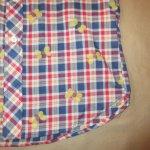 画像6: 古着 70's UNKNOWN チョウチョ フロッキープリント チェック 半袖シャツ NVY / 190701 (6)