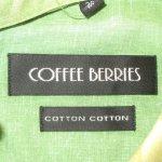 画像4: 古着 70〜80's COFFEE BERRIES 葉っぱ グラデーション ヒッピー 長袖シャツ MIX /190709 (4)