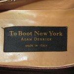 画像10: 古着 00's TO BOOT NEW YORK ADAM DERRICK アダムデリック MADE IN ITALY レザーシューズ BRW / 190723 (10)