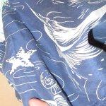 画像8: 古着 80's MONTAGE カジキマグロ 総柄 シルク アロハシャツ NVY / 190728 (8)