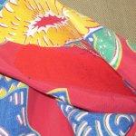 画像12: 古着 50's MADE IN CALIFORNIA MUSICAL ウクレレ 総柄 レーヨン アロハシャツ RED / 190728 (12)