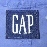 画像3: 古着 90's GAP ギャップ ボーダー コットン アノラック パーカ WHT×PUP / 190911 (3)