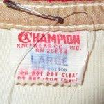 画像3: 古着 60's CHAMPION チャンピオン ランナーズタグ フラタニティ カレッジ コットンジャケット NAT×RED / 190911 (3)